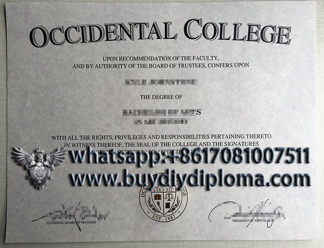Occidental College diploma