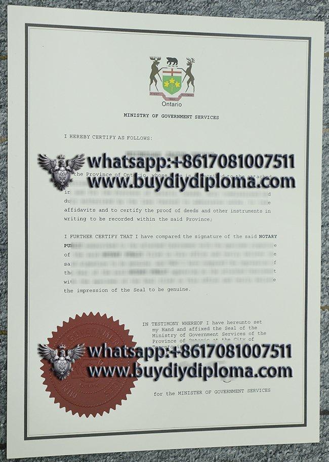 get a 100% copy of Ontario certificate in Canada