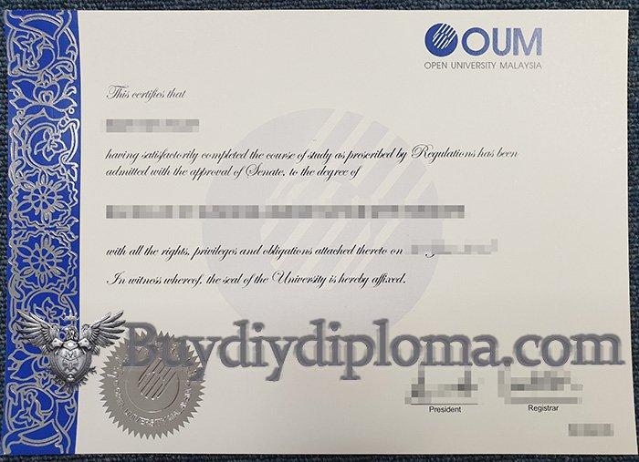 fake Open University Malaysia diploma, buy OUM degree,