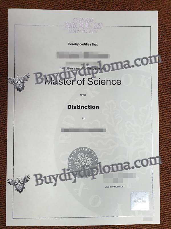 Oxford Brookes University fake diploma
