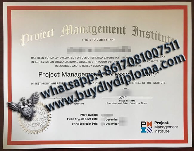 PMP Certificate(new version), where to buy fake PMP certificate