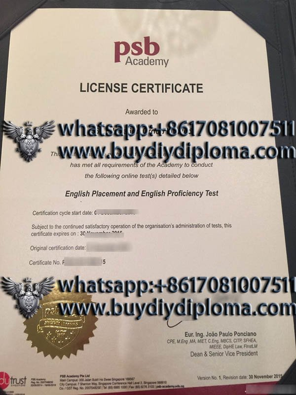 Can I copy a PSB Academy certificate? Hpw does it work?