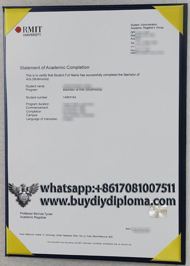 fake RMIT university Statement certificate online