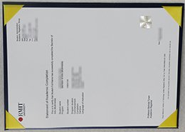 RMIT university Statement certificate