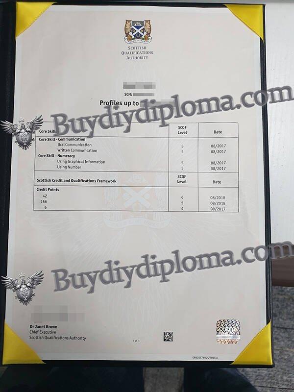 SQA fake Certificate