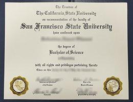 San Francisco State University fake diploma