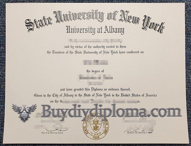 Fake State University of New York at Albany diploma, buy SUNY Albany degree