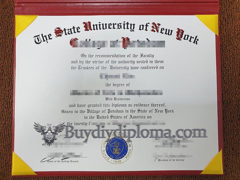 fake State University of New York diploma