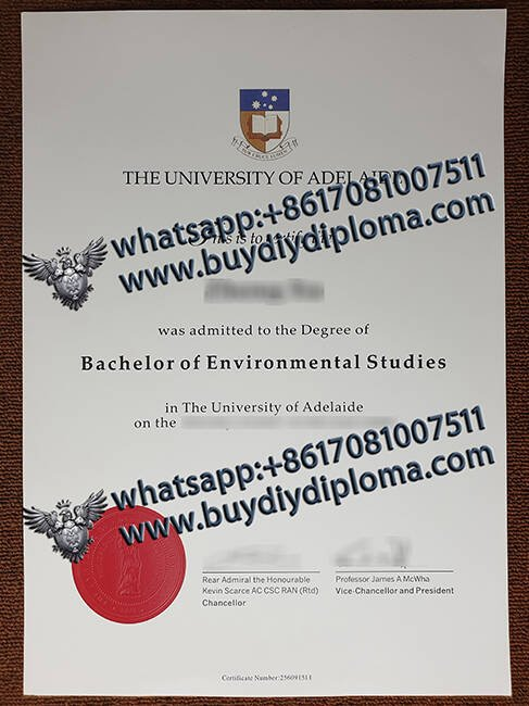 THE UNIVERSITY OF ADELAIDE diploma
