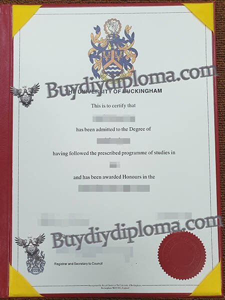 THE UNIVERSITY OF BUCKINGHAM fake diploma