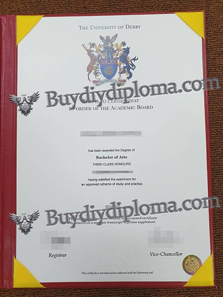 THE UNIVERSITY OF DERBY fake diploma