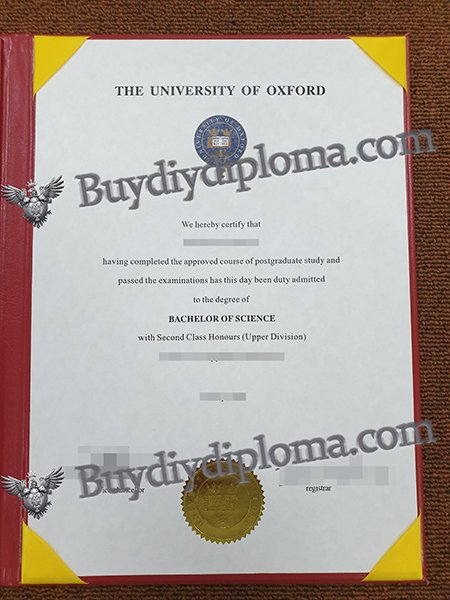 THE UNIVERSITY OF OXFORD fake diploma