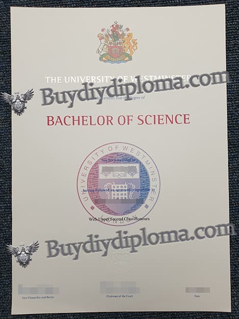 THE UNIVERSITY OF WESTMINSTER FAKE DIPLOMA