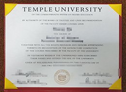 Temple University degree