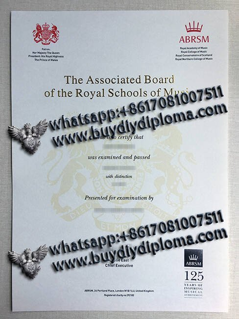 The Associared Board of the Roval Schools of Music fake certificate