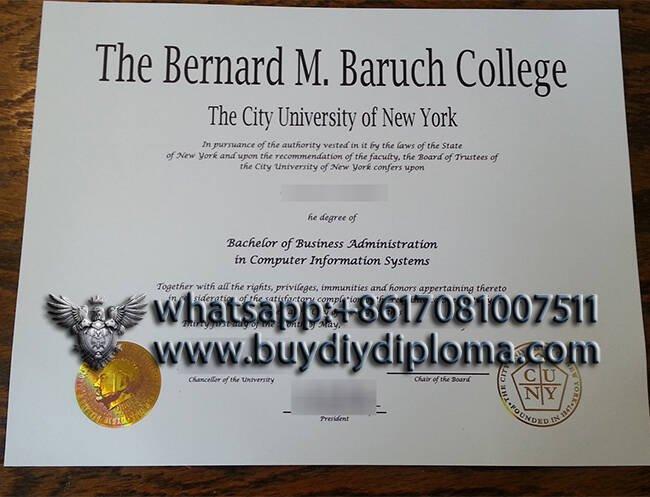 The Bernard M. Baruch College fake degree