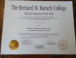 The Bernard M. Baruch College fake diploma
