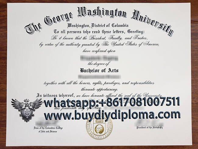 The George Washington University fake degree