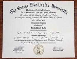 The George Washington University fake diploma