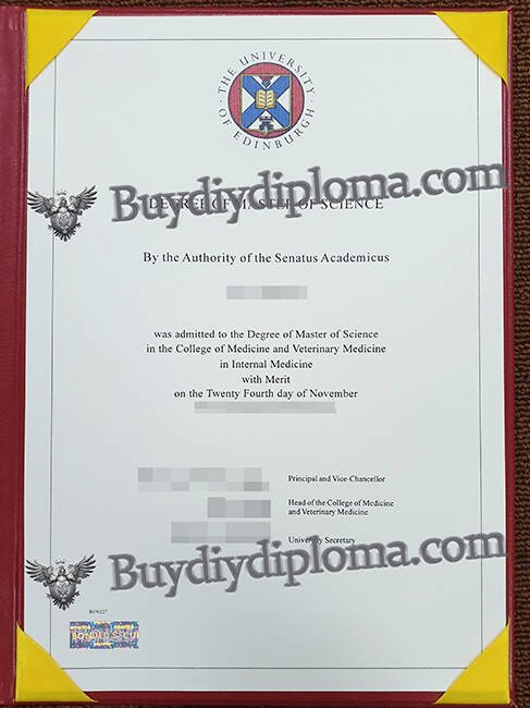 The University of Edinburgh fake diploma