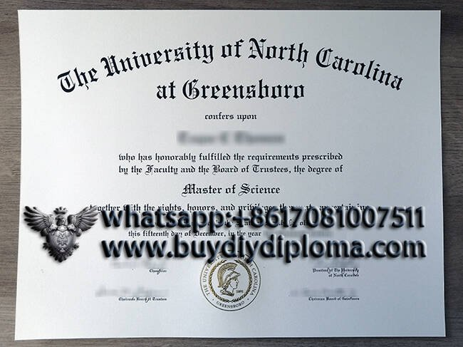 The University of North Carolina At Breensboro fake diploma certificate