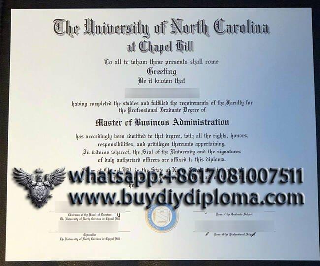 The University of North Carolina at Chapel hill fake diploma certificate