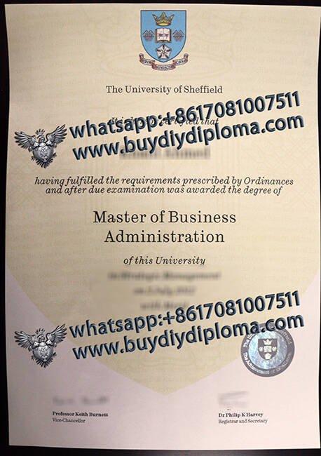 The University of Sheffield fake diplomas