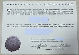 University of Canterbury diploma