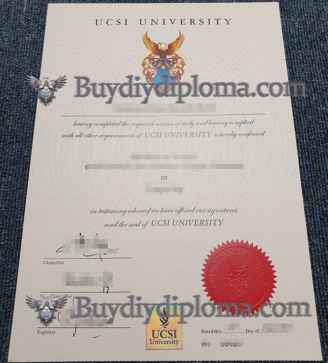 UCSI University diploma