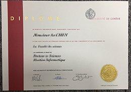 University of Geneva diploma