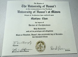 University of Hawaiʻi at Mānoa diploma