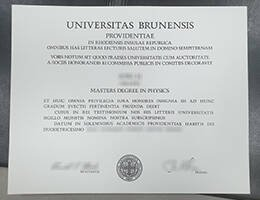 UNIVERSITAS BRUNENSIS fake diploma