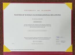 UNIVERSITY OF GLASGOW fake degree