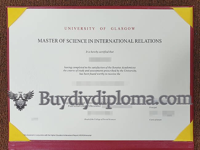 UNIVERSITY OF GLASGOW fake diploma