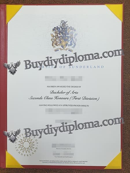 UNIVERSITY OF SUNDERLAND fake diploma