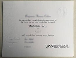 UNIVERSITY OF THE WEST of SCOTLAND fake diploma