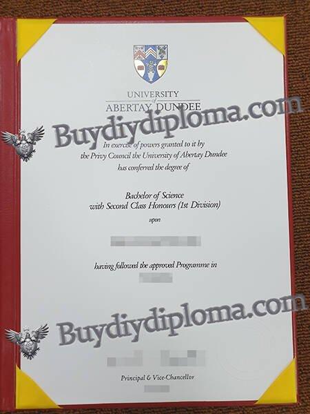 UNIVERSITY of ABERTAY DUNDEE fake diploma
