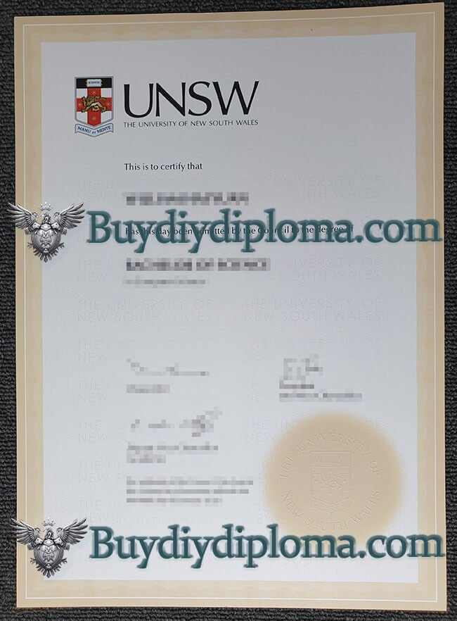 UNSW diploma, the University of New South Wales diploma sample(2021 version)