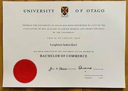University of Otago diploma