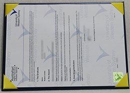 University of Western Sydney Statement certificate