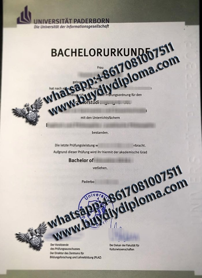 Unusual Ways To Get Fake Universität Paderborn Urkunde
