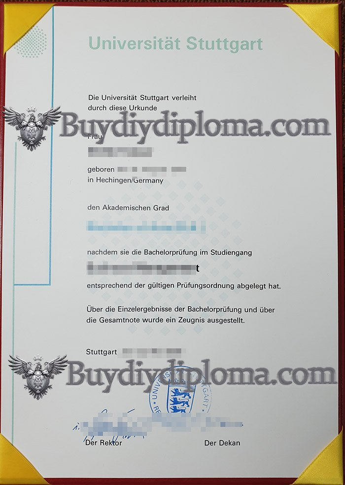 fake University of Stuttgart diploma, fake University of Stuttgart degree,