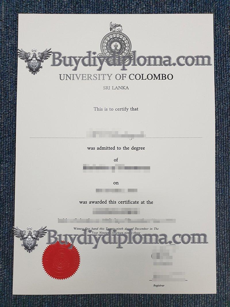 Buy fake University of Colombo diploma