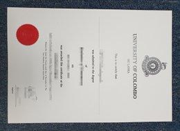 University of Colombo diploma