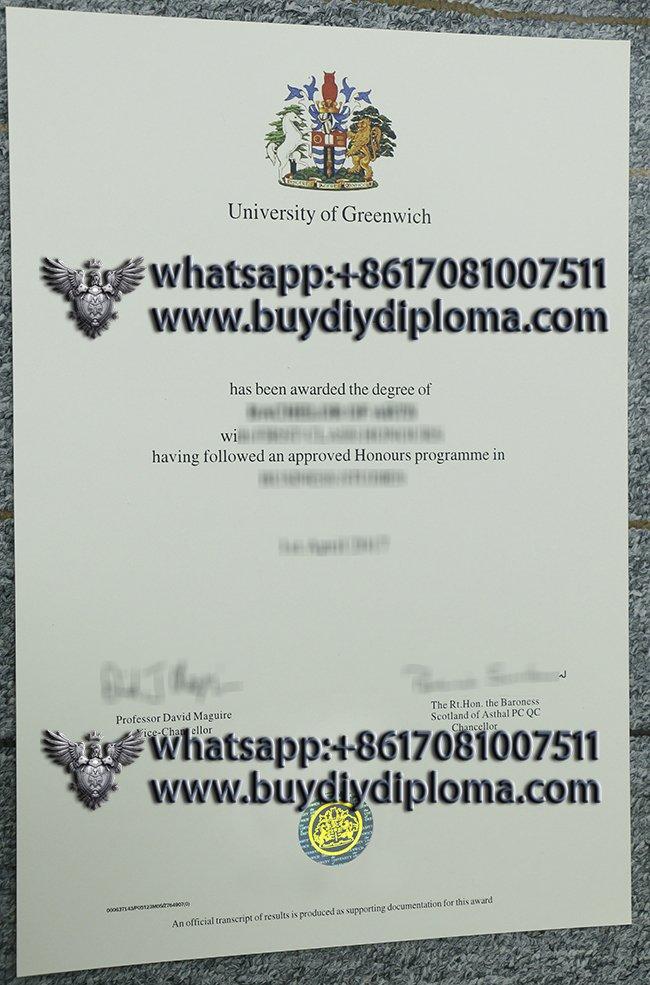 University of Greenwich diploma