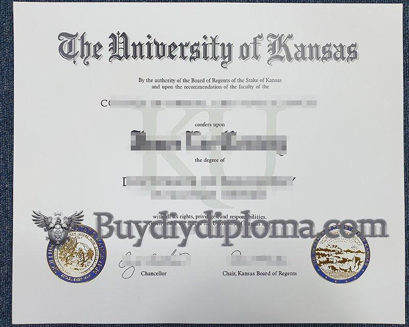 Buy fake University of Kansas diploma