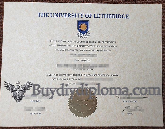 fake University of Lethbridge diploma, buy University of Lethbridge degree