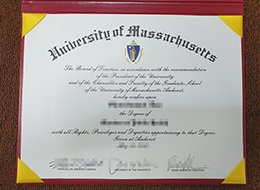 University of Massachusetts diploma