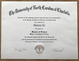 University of North Carolina at Charlotte fake diploma