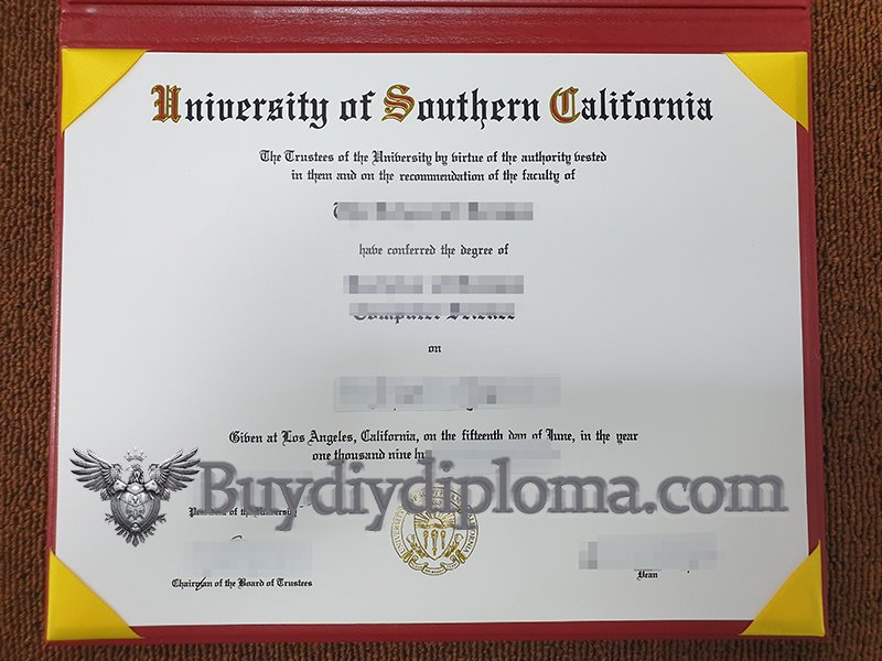 University of Southern California diploma